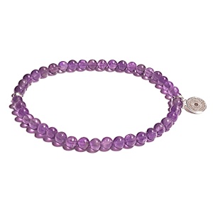 Calming Amethyst 4.5mm Bead Bracelet